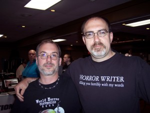 John Everson and Brian Keene at Hypericon 2009