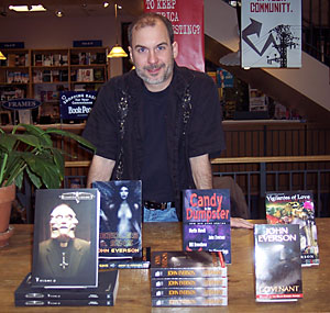 John Everson at the signing table at BookPeople