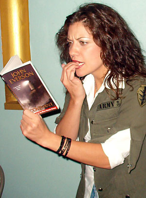 Tiffany Shepis reads a nail-biting moment in Covenant by John Everson.