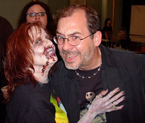 Jessie in Zombie Makeup and John Everson
