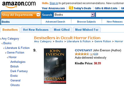 Covenant on Amazon Bestsellers