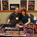 John Everson and Martel Sardina at the Dark Arts Books table. Photo by Vince Liaguno.
