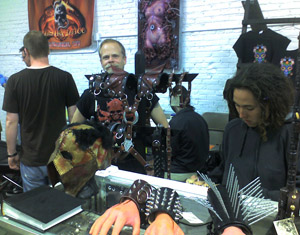 Dave Benton at the Milwaukee Massacre Tattoo Booth