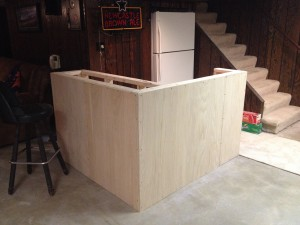 Hanging the outer frame veneer