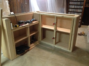 Finishing the cabinet shelves