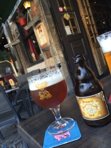My first beer in Belgium