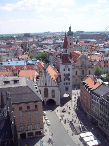 Marienplatz - view from the Rathaus Tower