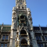 The Glockenspiel Tower in Marienplatz
