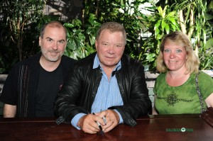 William Shatner with John and Geri Everson