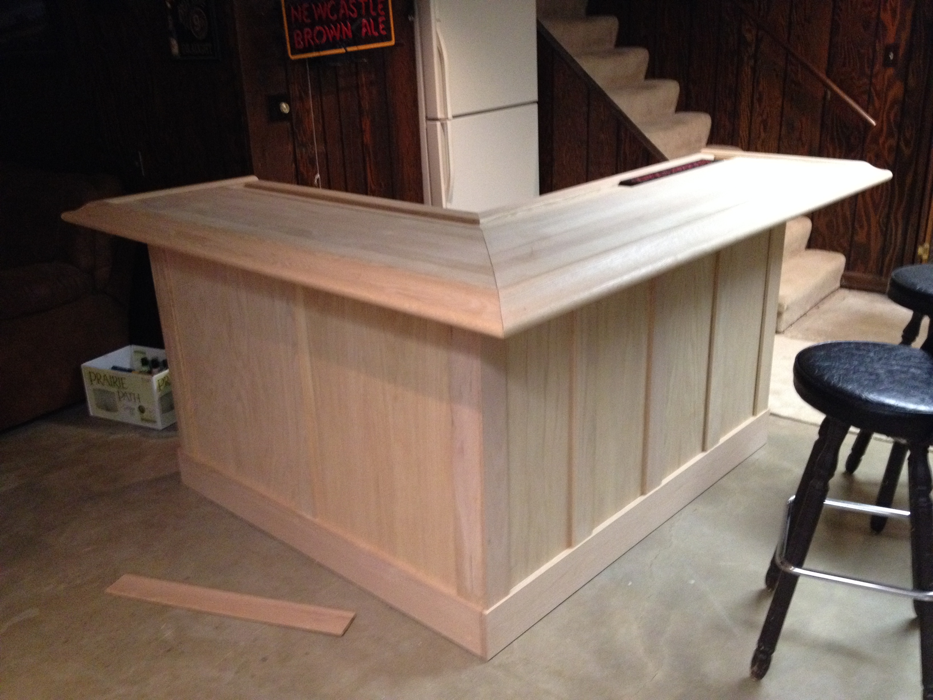 John everson dark arts blog archive diy how to build your own oak home bar - How to design a bar ...
