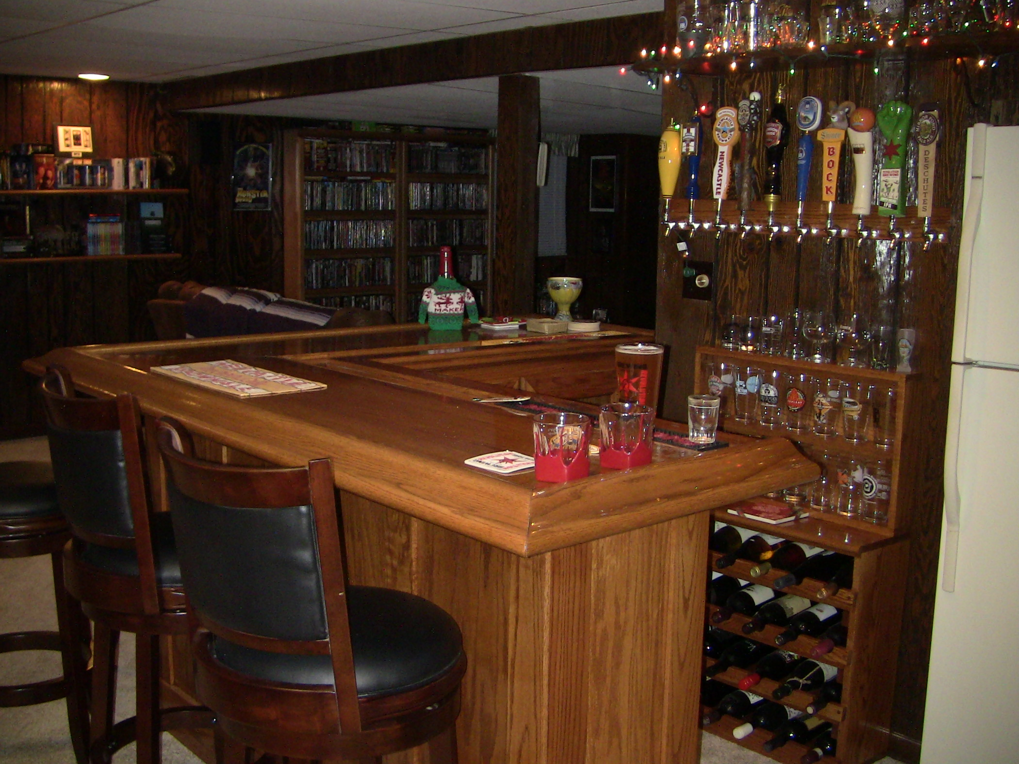 John everson dark arts blog archive diy how to build your own oak home bar - Inside bar designs ...