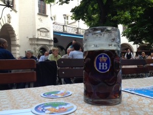 My First Beer in Munich - at Hofbrauhaus