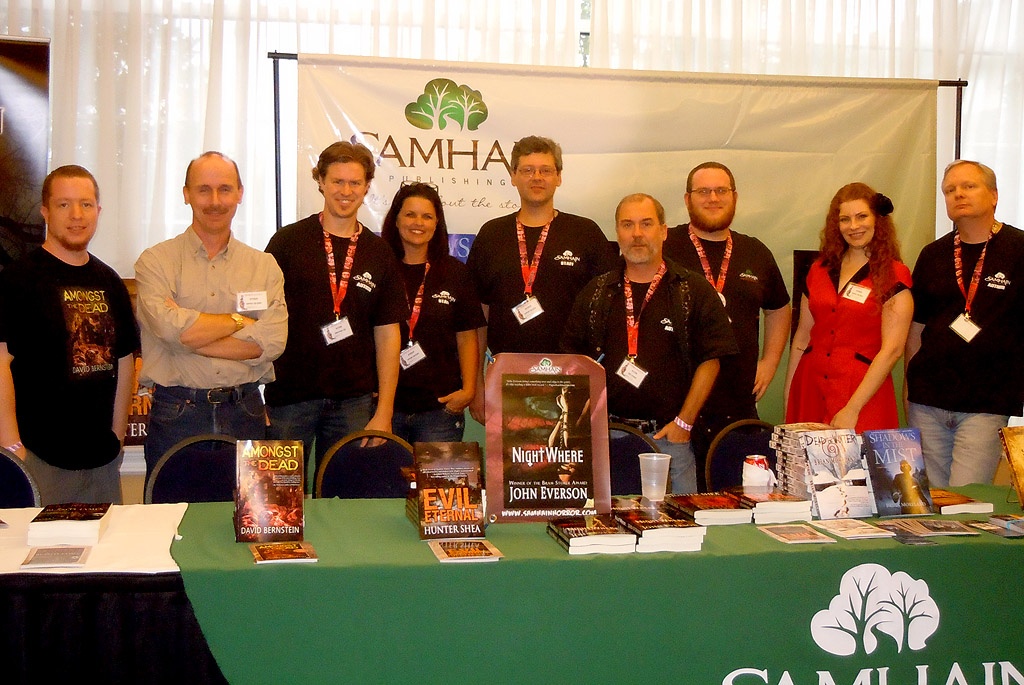 Don with the Samhain authors at Horrorfind 2012.