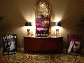 NightWhere sign at World Horror Convention 2013