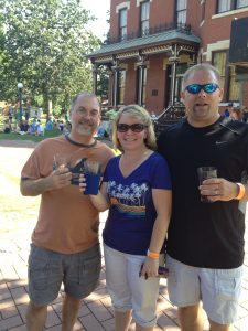 John and Geri Everson with Chad Brouwer at Naperville Ale Fest