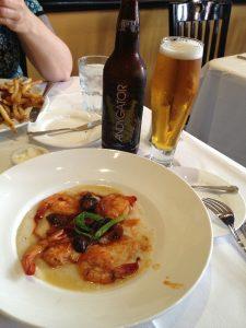 Shrimp and Grits at Nola