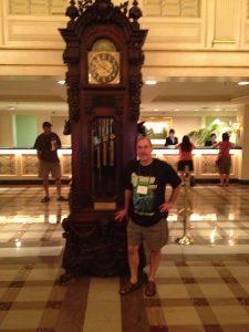 John Everson and a clock