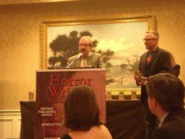 Mort Castle at the 2013 Bram Stoker Award Ceremony