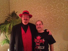 Dave Hinchberger of Overlook Connection with John Everson at World Horror Convention 2013