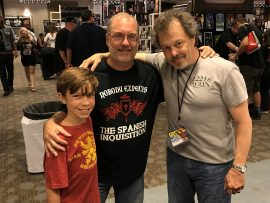 Shaun and John Everson and Curtis Armstrong - Flashback Weekend 2017