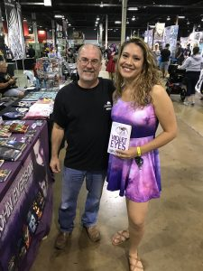 "John Everson and ""violet dress girl"" with VIOLET EYES - Wizard World Chicago Comic Con 2017"