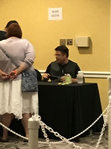 Sean Astin at HorrorHound Weekend 2017.