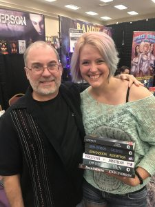 John Everson, Linsi Miller at HorrorHound Weekend 2017 in Indianapolis.