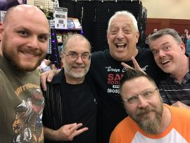 Paul Lanner, John Everson, Jerry Chandler, Don May and Jarrod Littleton at HorrorHound Weekend 2017.