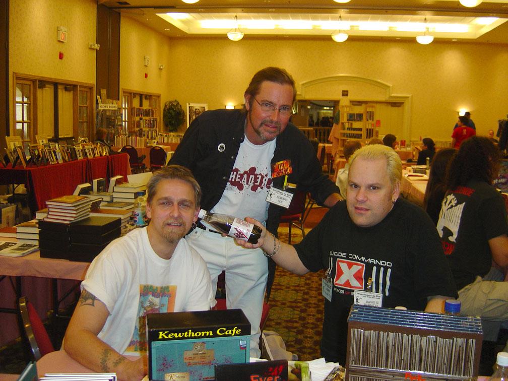 GAK, Edward Lee and Dave Barnett in the Dealer's Room