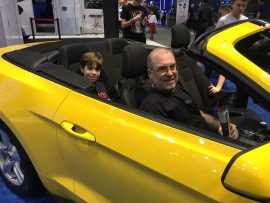 Shaun and John Everson at Chicago Auto Show, 2017