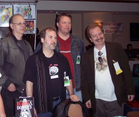Martin Mundt, me, Bill Breedlove, Mort Castle at the Candy in the Dumpster signing.