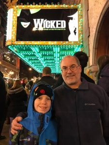 Shaun and John Everson at Wicked in Chicago, December 2017