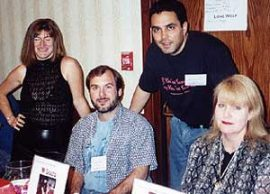 Teri Jacobs, me, Michael Laimo and Charlee Jacob at the Bloodtype signing. (photo courtesy of Judi Rohrig)