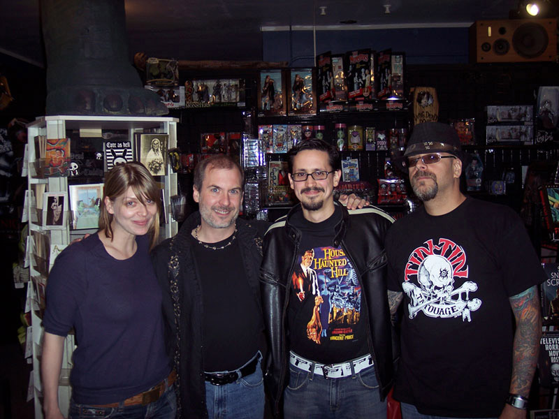 Amber Benson, John Everson, Jose Prendes and Del James