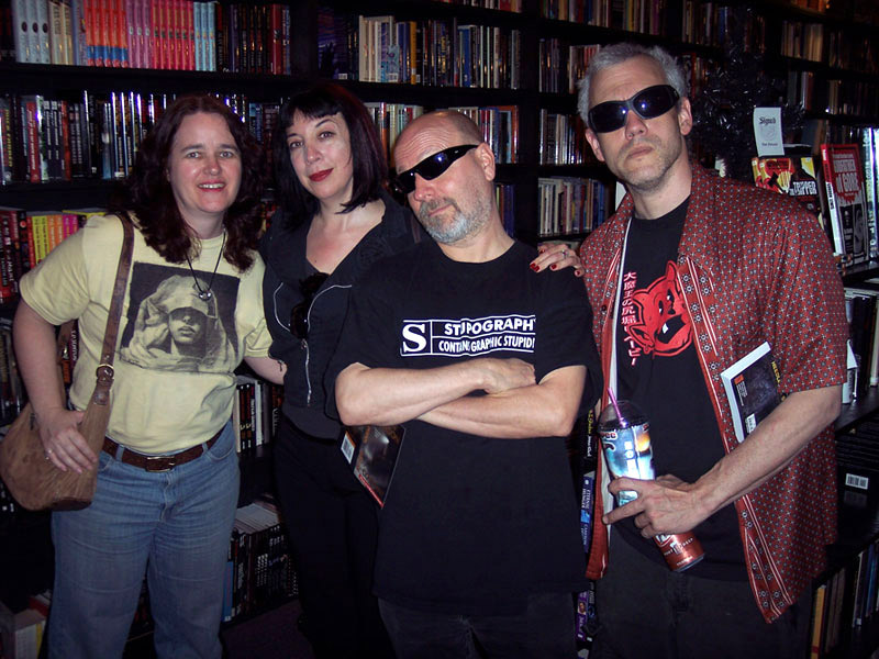 Lisa Morton, Maria Alexander, John Skipp and Cody Goodfellow at Dark Delicacies, 2008
