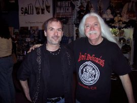 John Everson with Del Howison at Dark Delicacies Bookstore in 2008