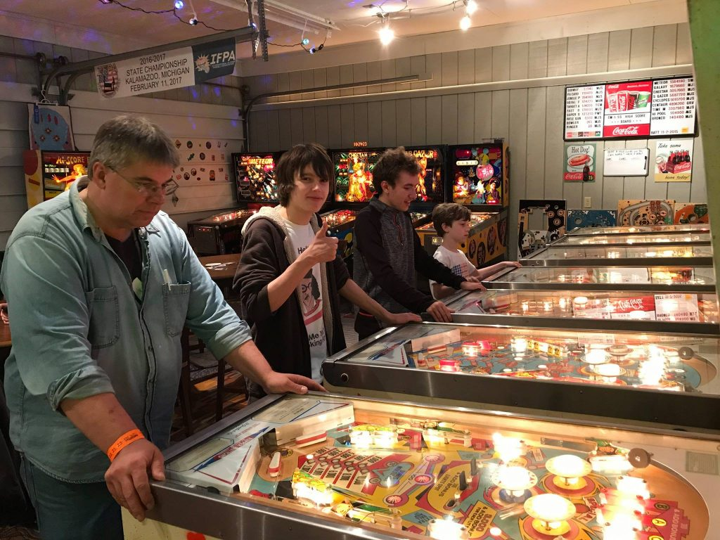 Chad, Levi, Christian and Shaun at Pinball at the Zoo after party