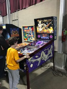 Shaun plays Bride of Pinbot at Pinball at the Zoo
