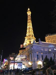 The Paris at night, Las Vegas
