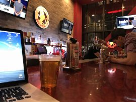 writing at Sin City Brewing