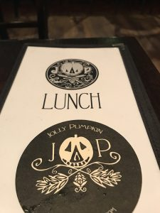 Jolly Pumpkin - menu