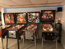 Mata Hari, Fireball Classic, Meteor, Sorcerer pinball tables