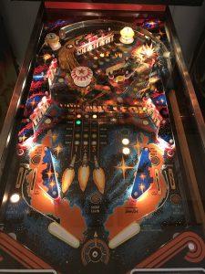 Meteor Pinball - playfield