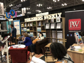 Publishers Weekly booth at Book Expo 2018