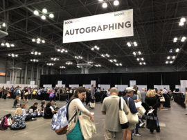 Autographing area at Book Expo 2018