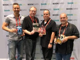 Jonathan Janz, Tim Waggoner, Hunter Shea, John Everson at Book Expo 2018