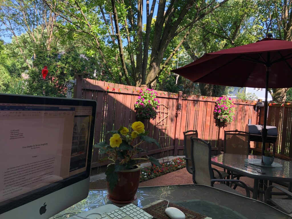 Writing on the Patio